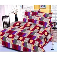 Zigma Collections Color Of Dream 100% Cotton Double Bedsheet - 4992950