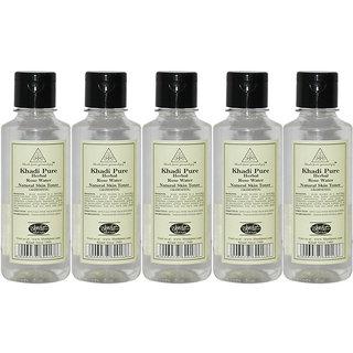 Khadi Pure Herbal Rose Water - 210ml (Set of 5)