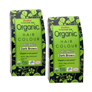 Radico Colour Me Organic Dark Brown Hair Colour - 100g (Set of 2)