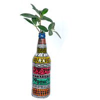VarEesha Handpainted Tribal Figure Bottle Vase