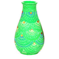 VarEesha Handcrafted Parrot Green Decorative Vase