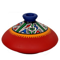 VarEesha Terracotta Red Flat Earthen Pot