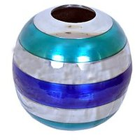 VarEesha Blue And Steel Silver Small Vase