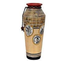 VarEesha Handcrafted Simmer Gold Taper Terracotta Vase