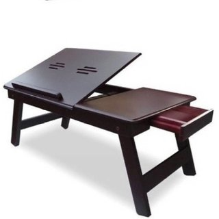 IBS Victor Solid Wood Portable Laptop Table (Finish Color - walnut brown)