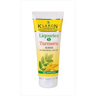 Klaron Herbals - Liquorice Turmeric Scrub (100 gms x 1)
