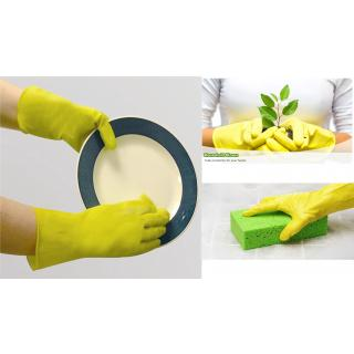 2 pair Hand Gloves Washing Cleaning Kitchen Household Rubber Gloves