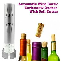 Gadget Hero's Automatic Wine Bottle Corkscrew Opener with Foil Cutter AA Battery Operated