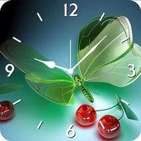 FurnishFantasy 3D Glass Butterfly Wall Clock WLC0544