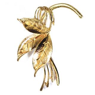 Via Mazzini Golden Leaves Ear Cuff Earring (Right Ear Only)