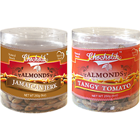 Almonds Jamaican Jerk & Tangy Tomato-Chocholik Dry Fruits-2 Combo Pack