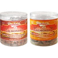 Almonds Smoked Barbeque & Tandoori Masala-Chocholik Dry Fruits-2 Combo Pack
