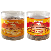 Almonds Mexican Salsa & Lemon Pepper-Chocholik Dry Fruits-2 Combo Pack