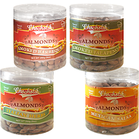 Almonds Italian Herbs, Mexican Salsa, Smoked Barbeque & Smoked Jalapeni-Chocholik Dry Fruits-4 Combo Pack