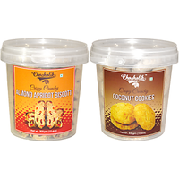 Almond Apricot & Coconut Cookies-Chocholik Cookies-2 Combo Pack