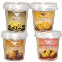 Ginger Cashew, Oatmeal Raisin, French Zesty Pista & Jam Cookies-Chocholik Cookies-4 Combo Pack