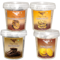 Choco Chip Walnut, Almond Bullets, Dark Choco Chip & Coconut Cookies-Chocholik Cookies-4 Combo Pack
