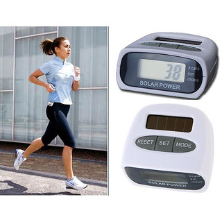 Solar Pedometer Step Count Distance Count Calorie Count