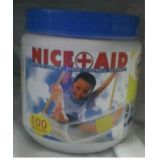 NICE + AID Washproof Band Aid (ADHESIVE DRESSING STRIP) -100 Strips