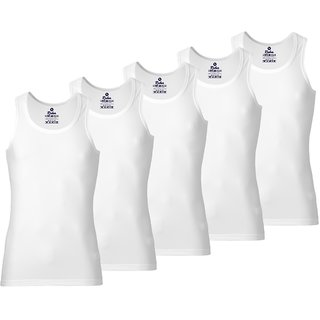 Rider Blue Bird White Vests for Kids (Pack of 5) by ORGFASHION