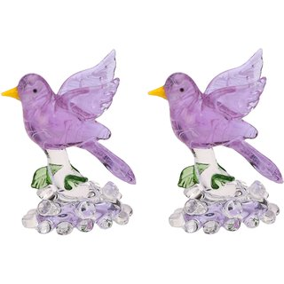Lovely Inncocent Bird Ready To Fly Crystal Figurine (Set OF 2)-JU1