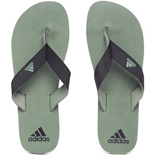 Adidas Men's Black  Green EZAY MAX OUT Flip-Flops Slippers