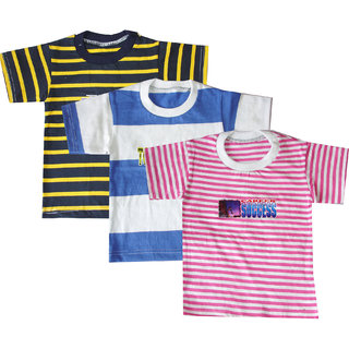 JF Boys Tshirt Multicolor ( Pack of 3 )