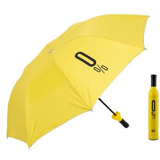 Home Story Fashionable Wine Bottle Yellow 110 cm Travel Umbrella