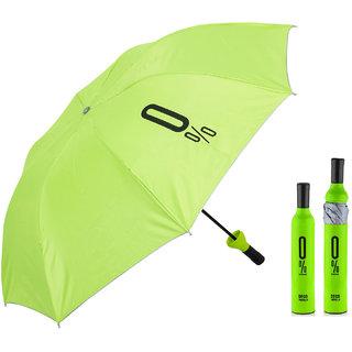 Home Story Fashionable Wine Bottle Green 110 cm Travel Umbrella