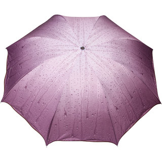 FabSeasons Purple 3 Fold Fancy Umbrella for all Weather