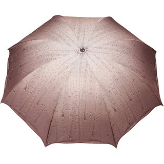 FabSeasons Brown 3 Fold Fancy Umbrella for all Weather