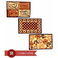 Deal Wala Multi-colour Stylish Doormat Combo- Set Of 3