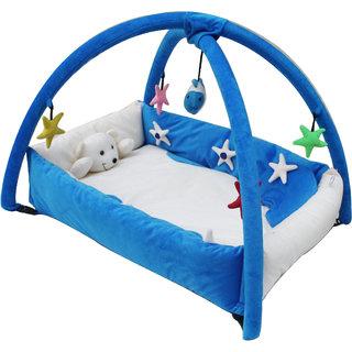 NAGAR INTERNATIONAL BABY PLAYGYM CUM PLAYPEN BLUE 0 - 12 MONTHS BABY