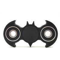 Takson Sales Fidget BATMAN Shape-Spinner Toy Stress Reliever 1 pc (Black)