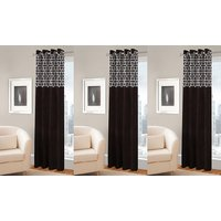 BSB Trendz  Panle Print Set Of 3 Door Curtain