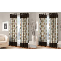 BSB Trendz  Panle Print Set Of 4 Door Curtain