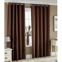 BSB Trendz Crush Plain Window Curtain Set Of 2
