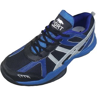 Port Mens Victor Blue PVC Badminton Sports Shoes