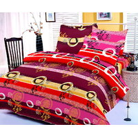 Zigma Collections Color Of Dream 100% Cotton Double Bedsheet - 5012644