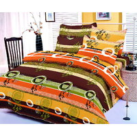 Zigma Collections Color Of Dream 100% Cotton Double Bedsheet - 5015706