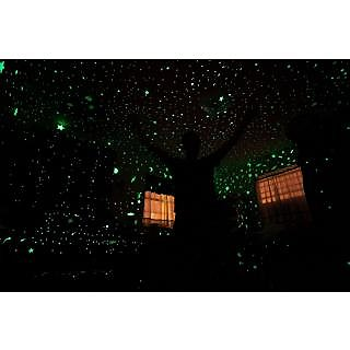 Sterling Bazaar Nature PVC Black  Multicolor Magic Radium Glow Stars Sky For Kids Room Ceiling Nature Wall Sticker (No of Pieces 1)