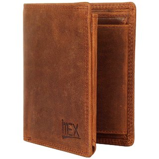 iMEX Mens Golden brown Goat Hunter Genuine Leather Wallets