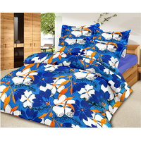Zigma Collections Color Of Dream 100% Cotton Double Bedsheet - 5016402