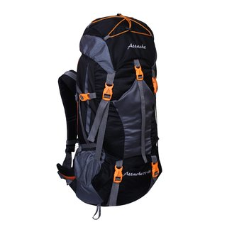 Attache 1025R Rucksack Hiking Backpack 75Lts (Black) With Rain Cover
