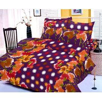 Zigma Collections Color Of Dream 100% Cotton Double Bedsheet - 5017016