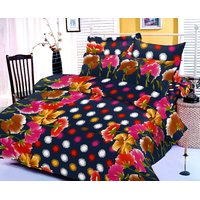 Zigma Collections Color Of Dream 100% Cotton Double Bedsheet - 5017574