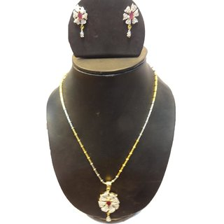 Natraj Arts American Diamond Jewellery Necklace Set Gfns_M_228