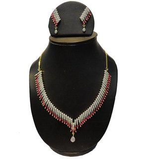 Natraj Arts American Diamond Jewellery Necklace Set Gfns_M_251