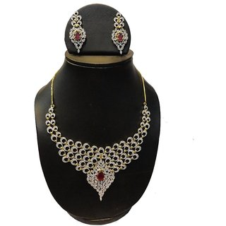 Natraj Arts American Diamond Jewellery Necklace Set Gfns_M_252