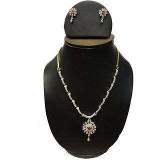 Natraj Arts American Diamond Jewellery Necklace Set Gfns_M_256